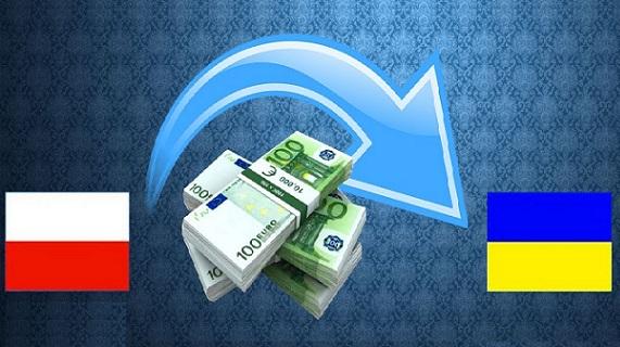 Объем денежных переводов из Польши на Украину за год вырос вдвое
