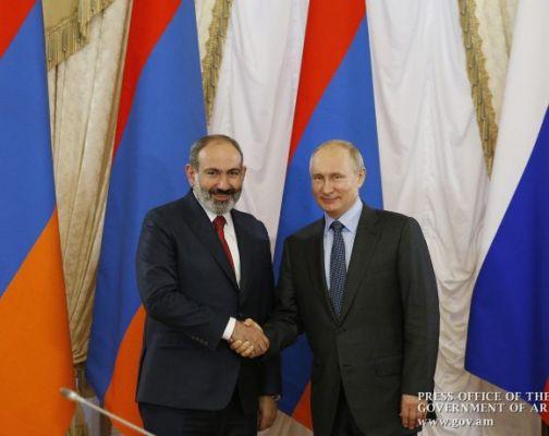 Пашинян поздравил Путина ссобытием принципиальной важности