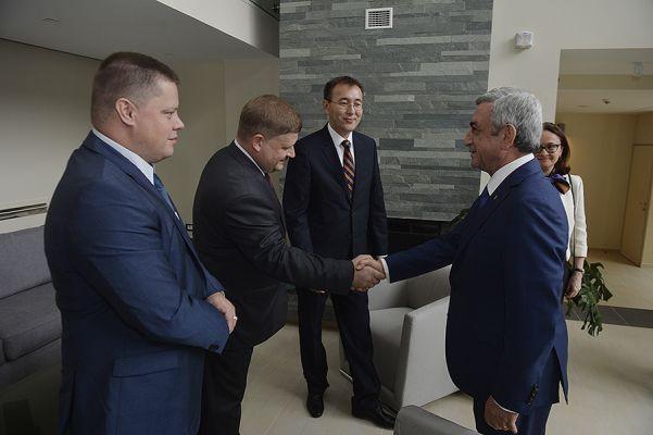 Главы центробанков стран ЕАЭС встретились с президентом Армении
